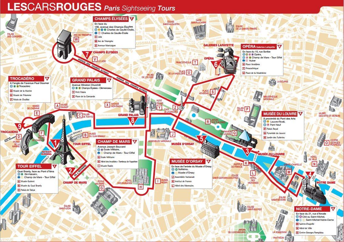 for Carte paris touristique