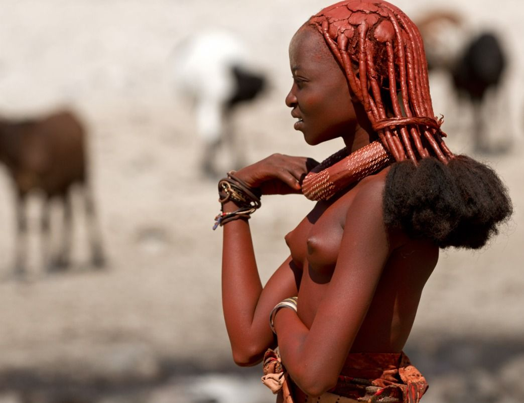 Naked African